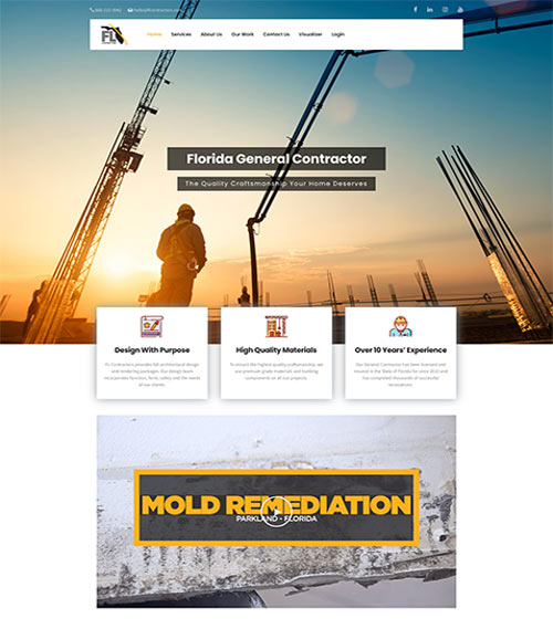 flcontractors website development