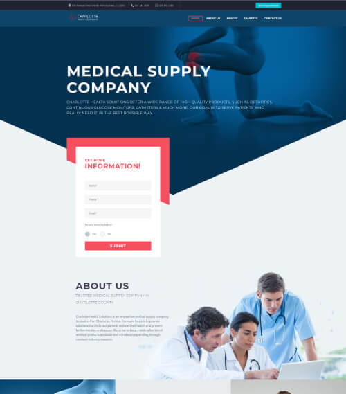 charlotte health solutions website development